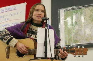 Singing at the Success Summit offered by the Initiative for Rural Innovation and Stewardship (2011)